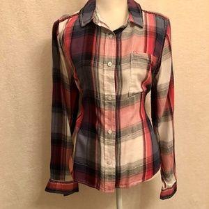 Mudd Woman's  Long Sleeve plaid shirt SZ XL